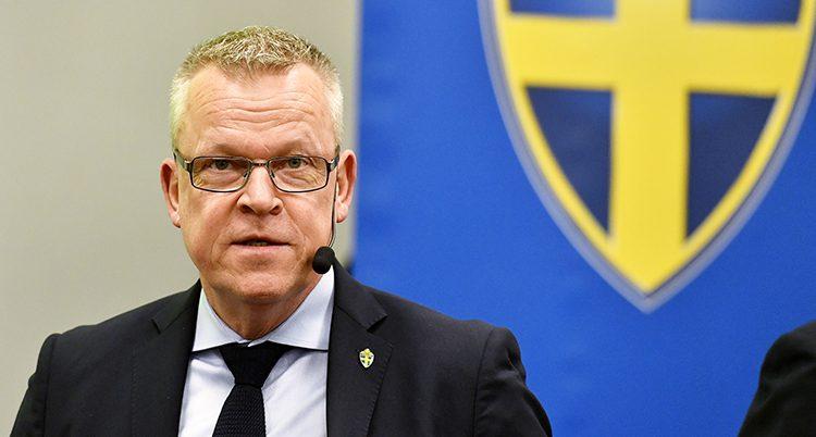 Janne Andersson på en pressträff.