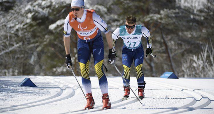 Zebastian Modin och hans guide Johannes Andersson