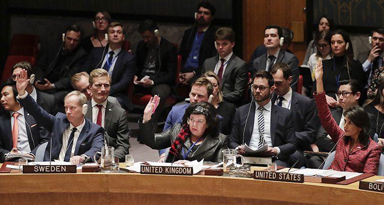 Möte i FNs säkerhetsråd.