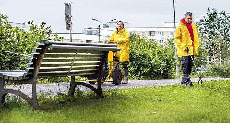 En sommarjobbare i Stockholm