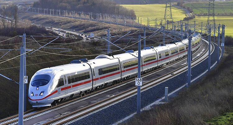 Ett snabbtåg från Tyskland.