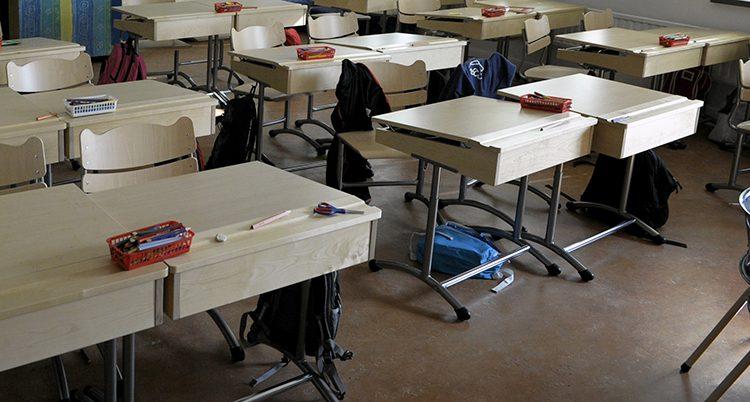 Ett klassrum.