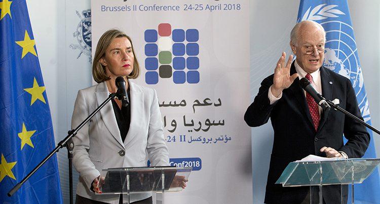Ledare för EU och FN träffas.
