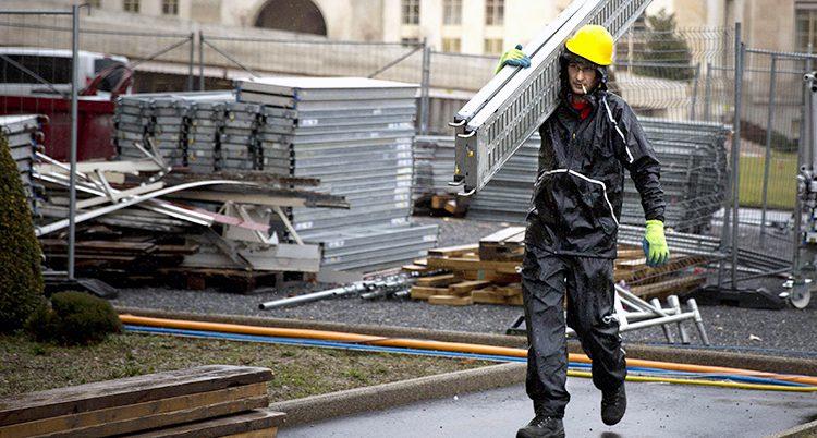 En byggjobbare i Spanien