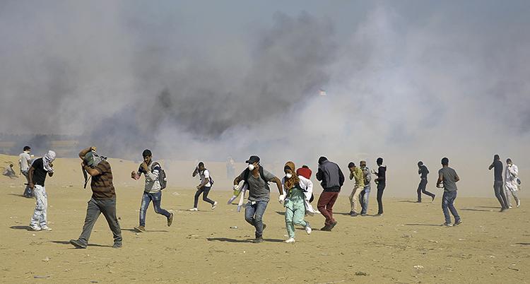 Palestinier flyr