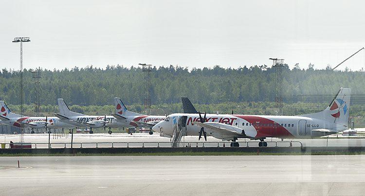 Ett av Nextjets flygplan.