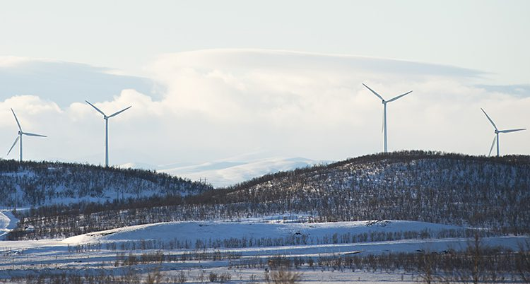 Vindkraftverk i norra Sverige