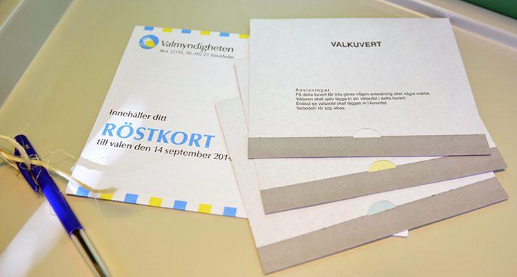 Röstkort och kuvert
