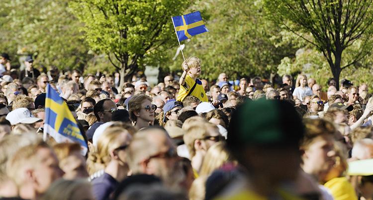 Många var med och firade guldet
