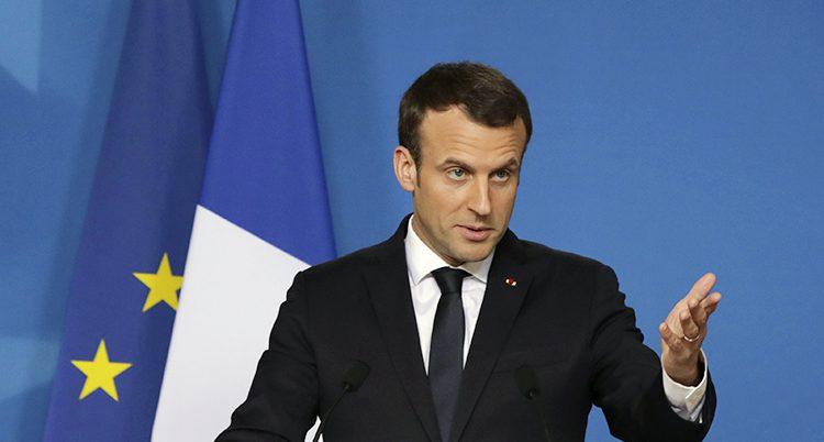 Frankrikes president Macron