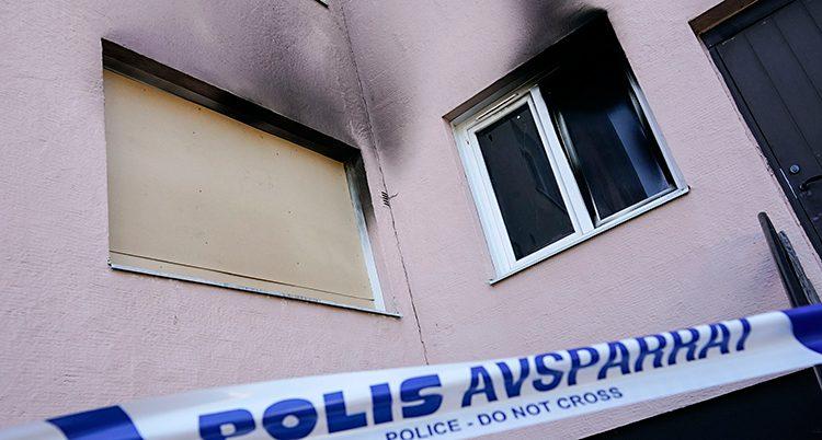 Någon tände eld på en moské i Hässleholm