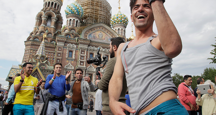 APTOPIX Russia Soccer WCup Daily Life