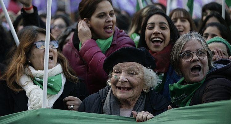 Demonstranter i Argentina