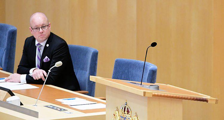 Talmannen Björn Söder sitter i riksdagen.