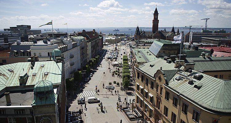 Utsikt över centrala Helsingborg.