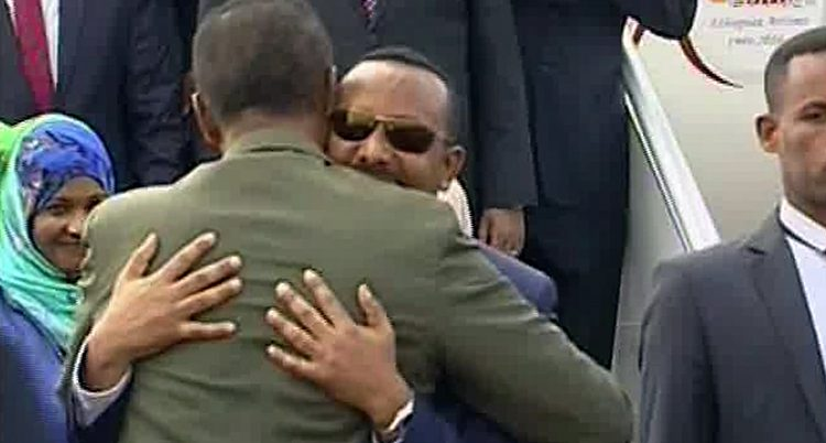 Ledarna för Etiopien och Eritrea