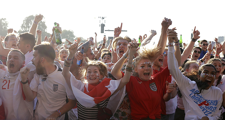 Britain WCup Soccer England