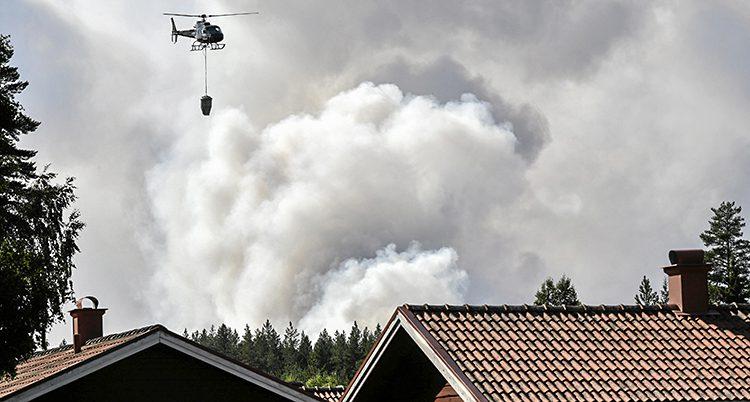 Det brinner i skogen nära Ljusdal