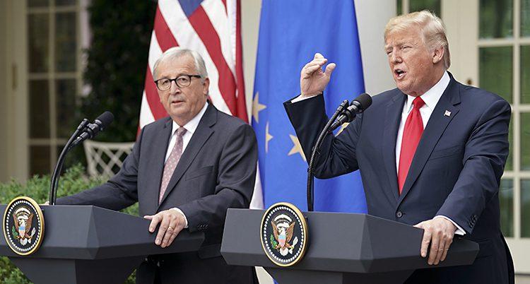 Donald Trump och Jean-Claude Juncker