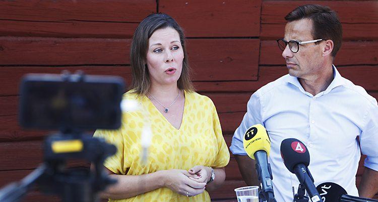 Moderaterna Maria Malmer Stenergard och Ulf Kristersson