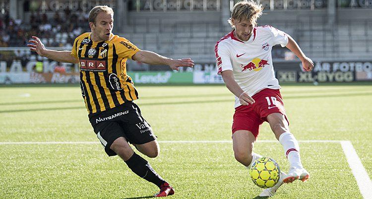 Leipzig i matchen mot Häcken