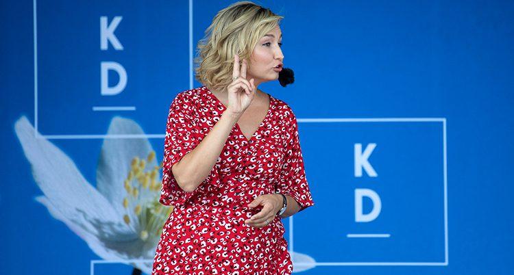 Ebba Busch Thor är ledare för Kristdemokraterna.