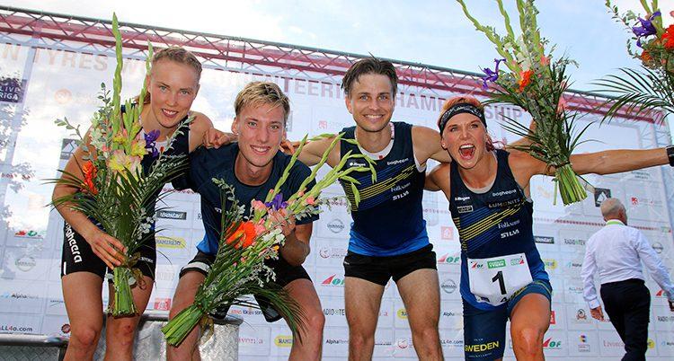 Sverige vann guld i stafett.