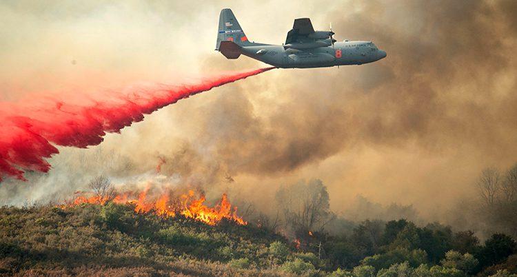 skogsbrand i USA