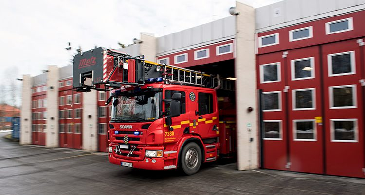En brandbil i Stockholm