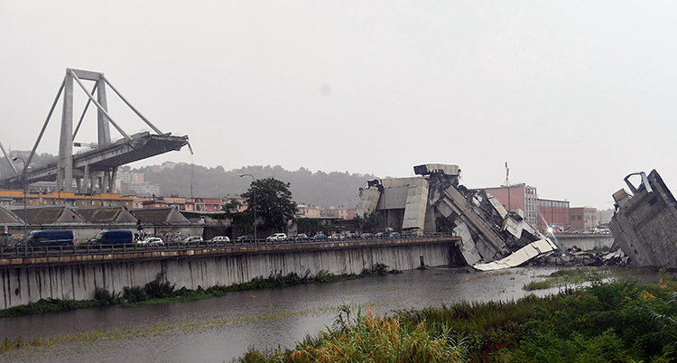 APTOPIX Italy Highway Collapse