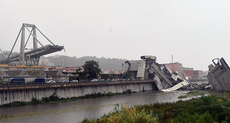 APTOPIX Italy Highway Collapse