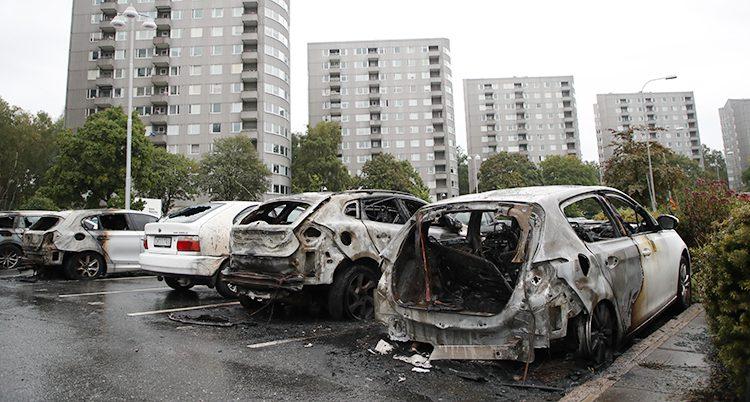 Bilar som bränts