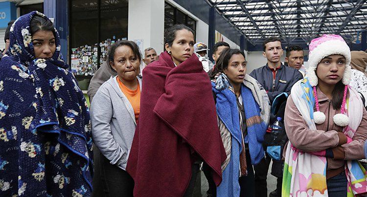 Människor på flykt från Venezuela
