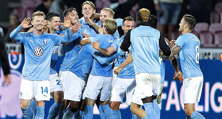 Malmös spelare firar segern