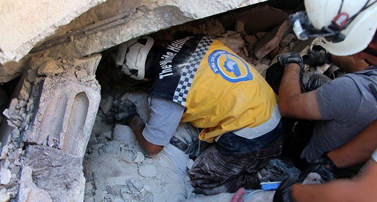 Räddningsarbetare i Syrien