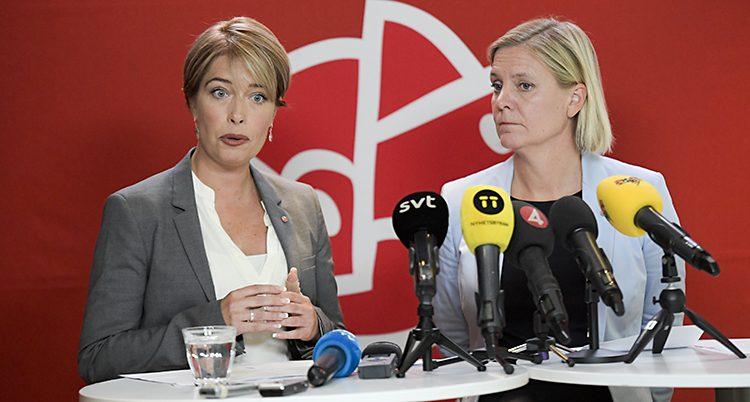Annika Strandhäll och Magdalena Andersson.