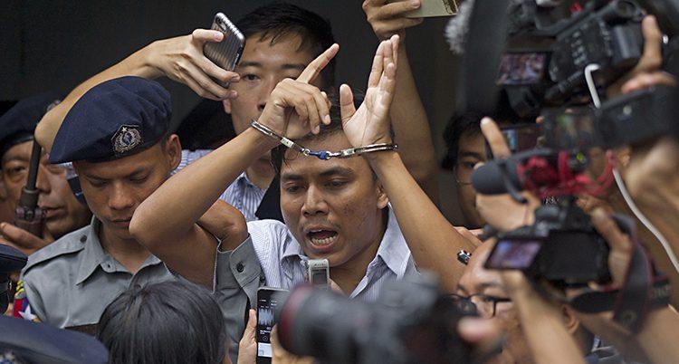 Journalisten Kyaw Soe Oo lämnar domstole