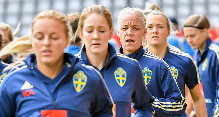 Sverige tränar inför matche