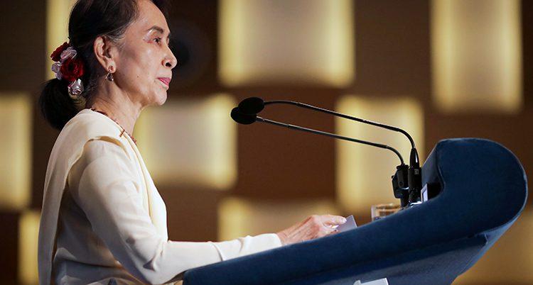 Myanmars ledare Aung San Suu Kyi