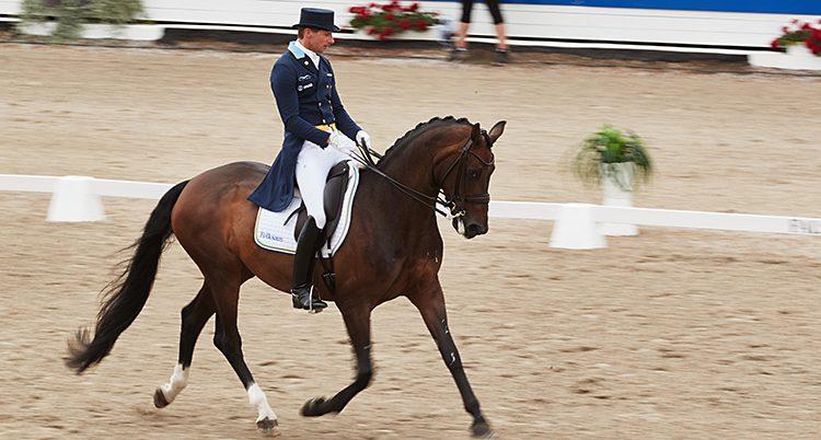 Patrik Kittel på sin häst.