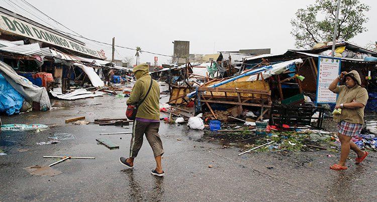 Ovädret i Filippinerna.