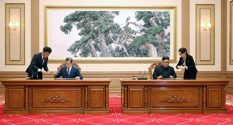Sydkoreas och Nordkoreas ledare hade möte