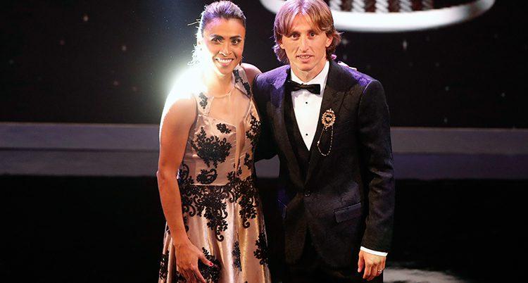 Marta da Silva och Luca Modric