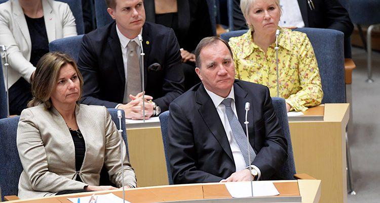 Stefan Löfven i riksdagen