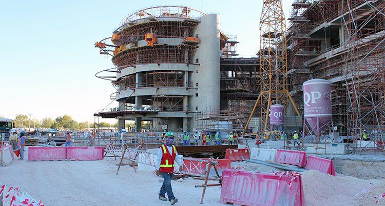 Ett bygge i Qatar.