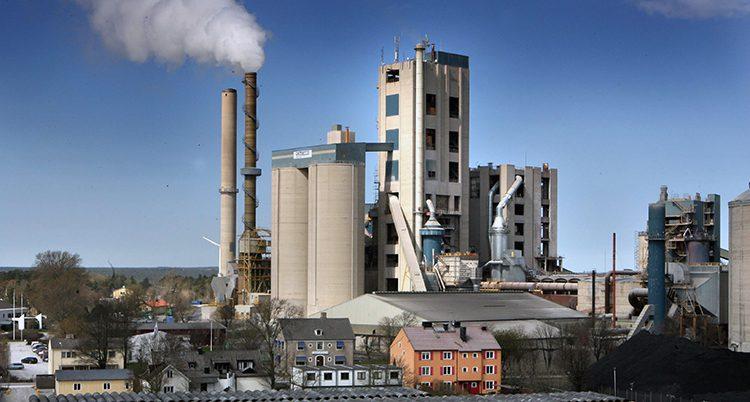 Företaget Cementa på Gotland
