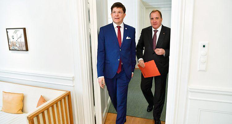Stefan Löfven hos talmannen