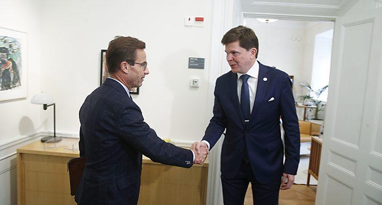 Ulf Kristersson och talmannen Andreas Norlén.