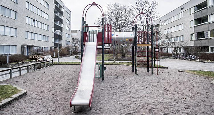 En lekplats i Stockholm.