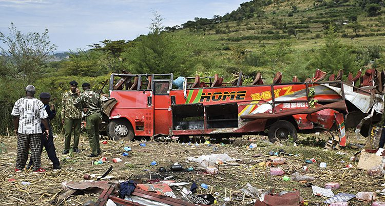 Många dog i bussolyckan